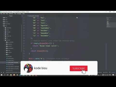 Function Format Nama Bulan Dalam Bahasa Indonesia di PHP