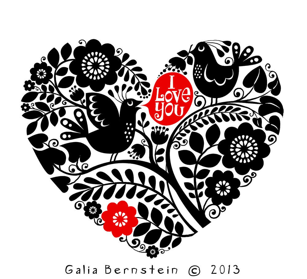 Valentine's Day cards by Galia Bernstein