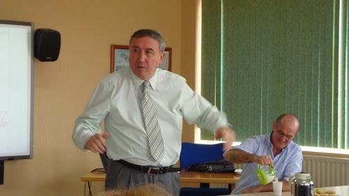 Mikel Agirregabiria y Enrique Arce, en Encuentro ARCE (Leioa)
