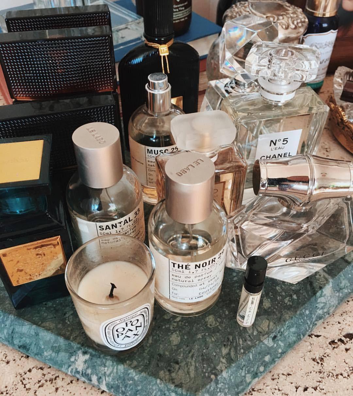 "alwaysjudgingblog: ""New scent set up on my vanity. """