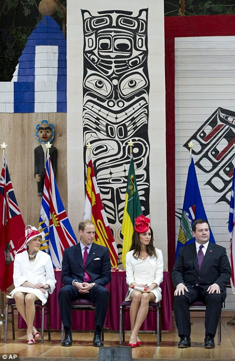William and Catherine with Canada's Governor General David Johnston and his wife Sharon