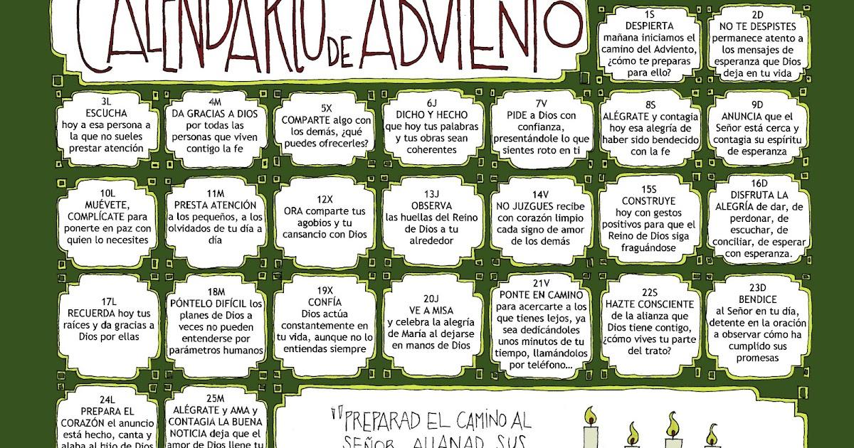 Parroquia la inmaculada calendario de adviento 2012 for Calendario adviento 2017