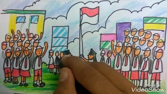 Mewarnai Bendera Indonesia Untuk Anak