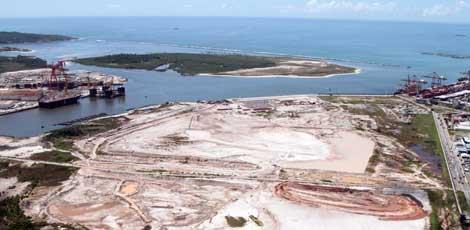 Imagem de Suape, onde será implantado o terceiro estaleiro / Foto: Hélia Scheppa/JC Imagem