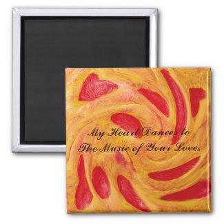 Heart Dance Love Magnet_Romantic Valentine Gifts magnet