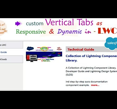 Salesforce LWC How to Create custom vertical tabs as responsive design & dynamic changed uses of lightning-tabset element in  Lightning Web Component | LWC