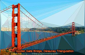 The Golden Gate Bridge and Delaunay Triangulation. iPad App: Trimaginator