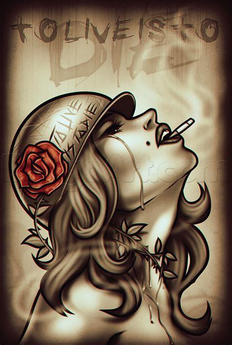 draw crying girl tattoo step step tattoos