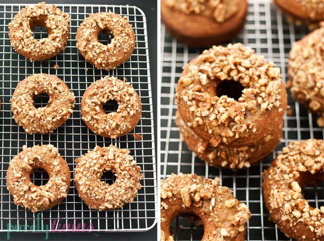 banana coconut pecan protein baked donuts