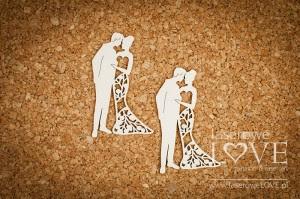 Tekturka - Młoda Para, sukienka z żurawiną 2 szt. - Wedding Day