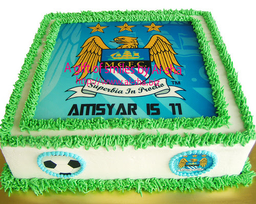 Birthday Cake Edible Image Manchester City