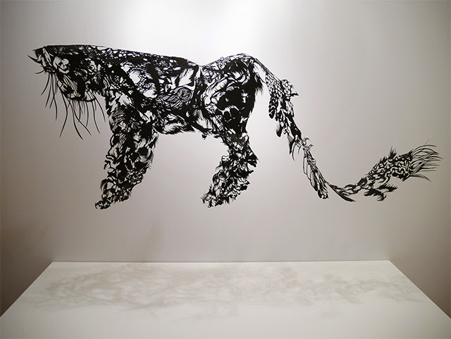Sculptures Hand Cut from Single Sheets of Paper by Nahoko Kojima sculpture paper