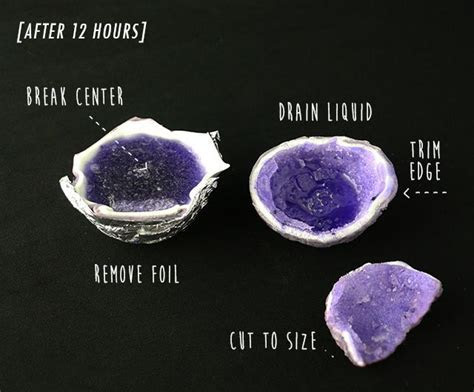 How to make an edible crystal geode   Crystal Healing