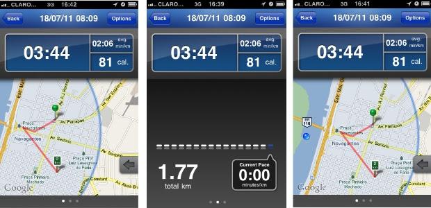 Aplicativo para smartphone registra informações sobre exercícios físicos (Foto: Reprodução)