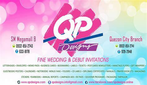 QP Designs   Metro Manila Wedding Invitations   Metro