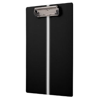 Faded White Stripe on Black Clipboard