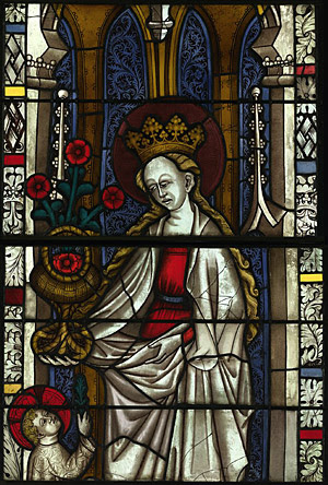 Saint Dorothea with a basket of roses