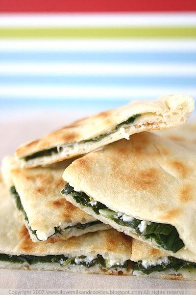 Turkish Gozleme- Spinach and Feta
