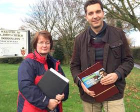 Cllr Janet Clowes and Edward Timpson.