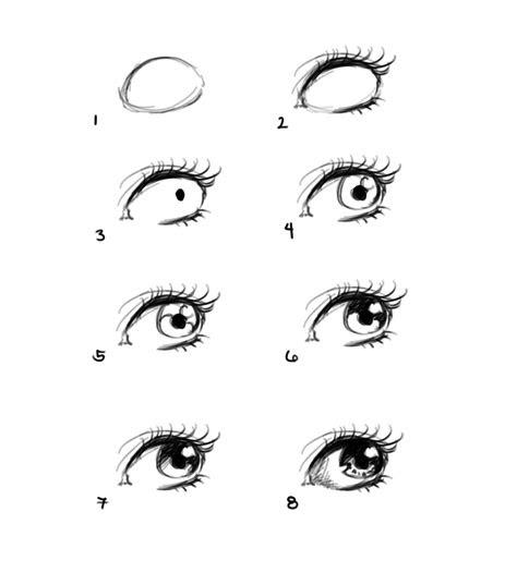 como dibujar el ojo de una mujer paso  paso ilustra