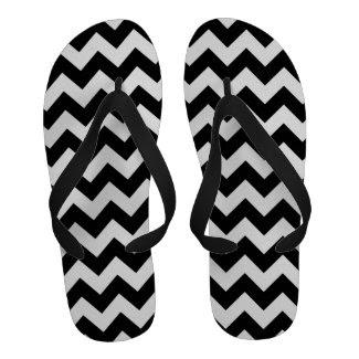 Black and White Zigzag Flip-Flops