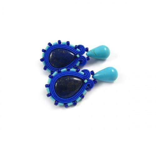 Kobaltowe kolczyki sutasz
