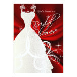 Bridal Shower in Red Satin 5x7 Paper Invitation Card