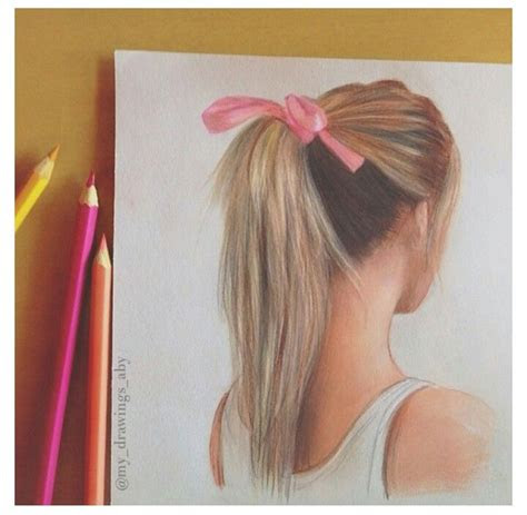 ponytail hair drawing figure drawing hair pinterest