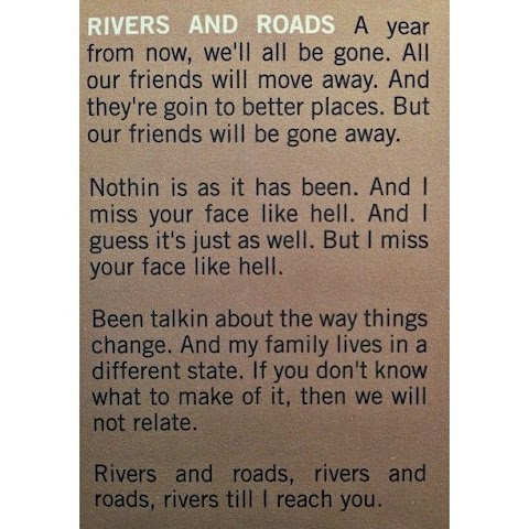 The Head And The Heart Lyrics Rivers And Roads