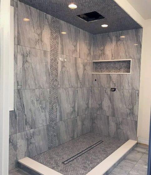 Top 60 Best Grey Bathroom Tile Ideas - Neutral Interior ...