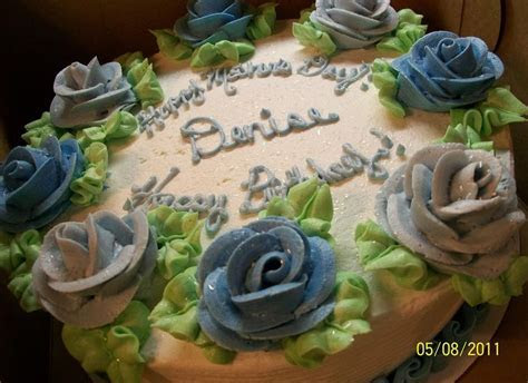 Sandy's Sweet Cakes: Blue Roses Mother's Day/Birthday Cake
