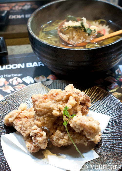 Karaage fried chicken at Umi Kaiten-Zushi