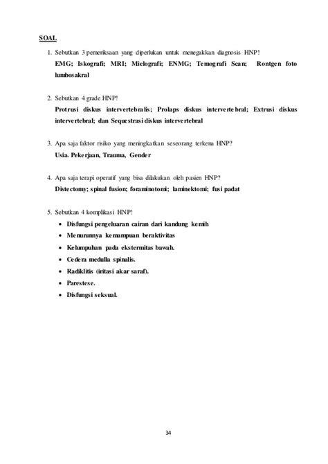 HNP (Hernia Nukleus Pulposus) atau Saraf Kejepit