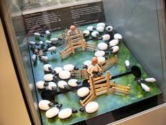 Animated sheep shearing model