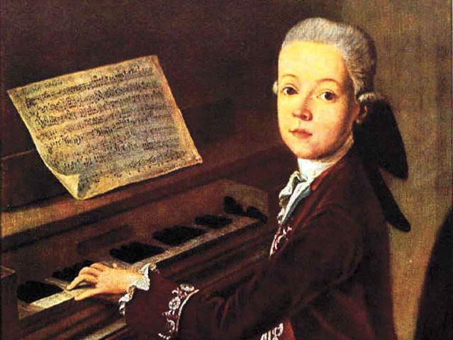 Image result for mozart as a child