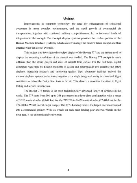 Investigation of Boeing 777 Cockpit Display | Cockpit