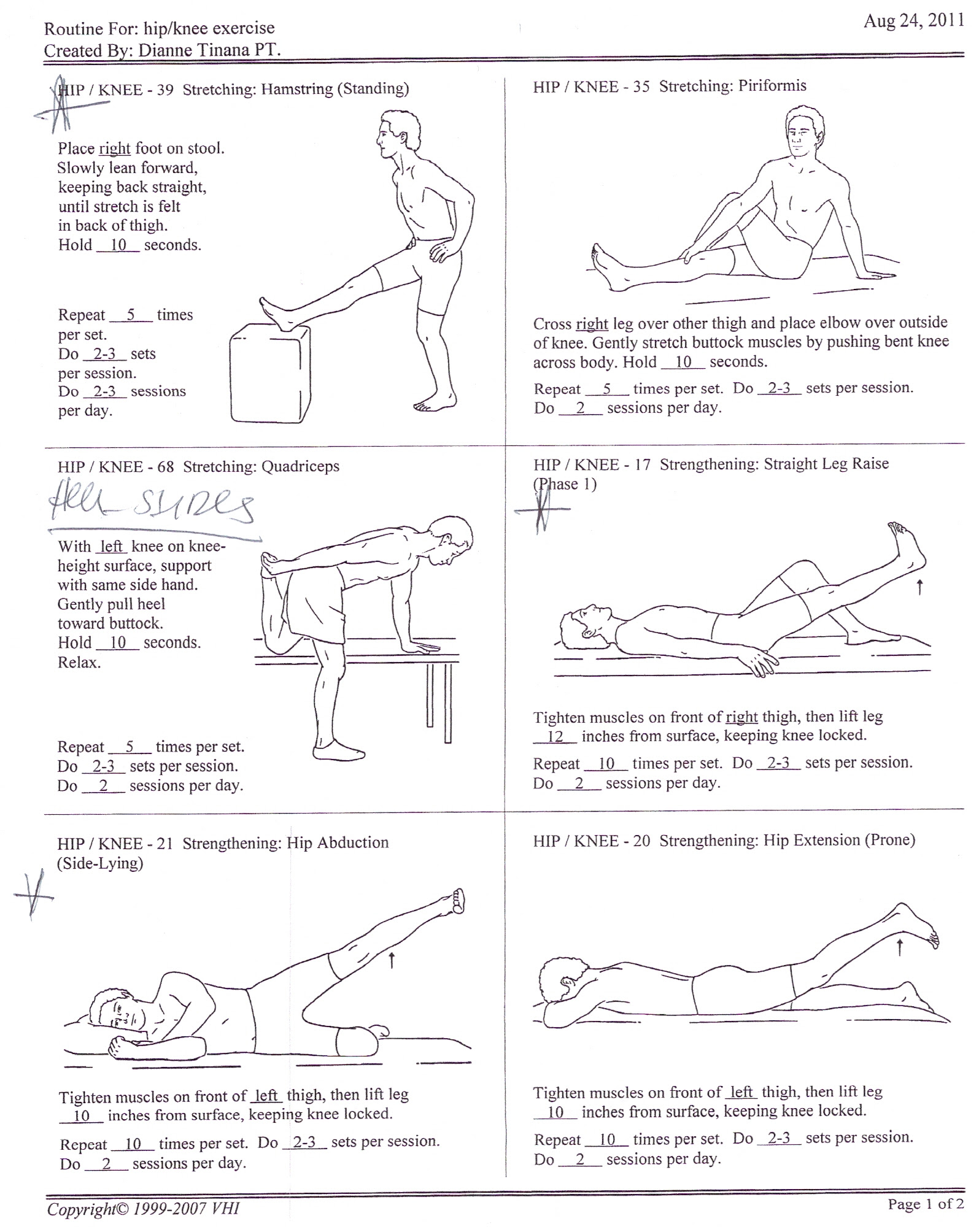 Exercise Knee Physical Therapy