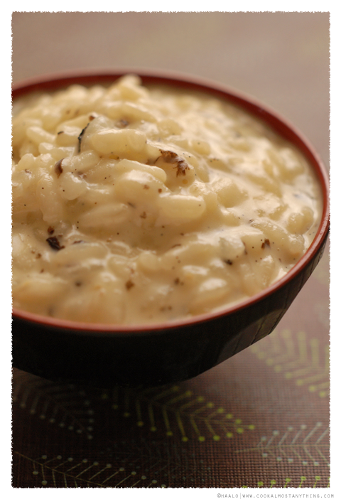 truffled rice pudding© by Haalo