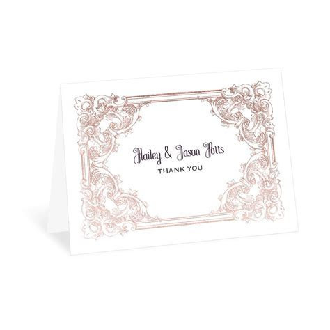 Yorkshire Romance Foil Thank You Card   Invitations By Dawn