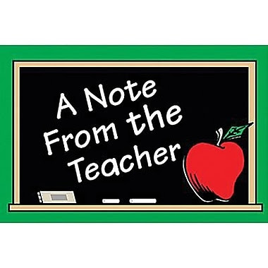 Teacher Created Resources® A Note From The Teacher Postcard