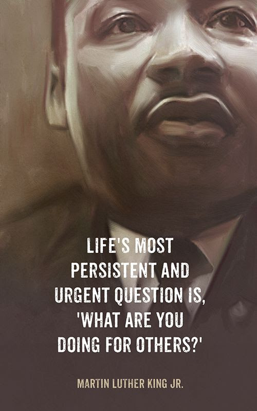 A great question to ask yourself! Love these wise words from Martin Luther King Jr.