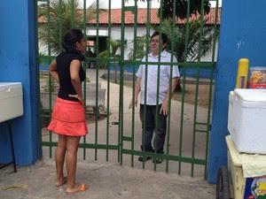 Candidata Kaline Kele, 23 anos, mora a 10 minutos de local de prova, mas chegou atrasada em Teresina (Foto: Gilcilene Araújo/G1)