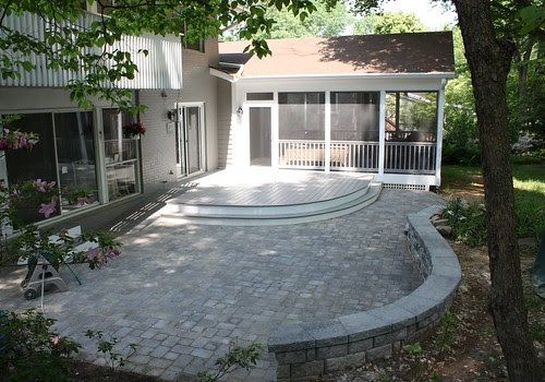 Decks in montgomery county maryland round deck paver patio and low maintenance screen room in - Round table montgomery village ...