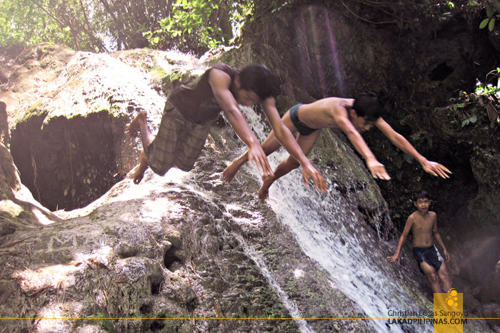 Diving in Tandem at Iligan City's Pampam Falls