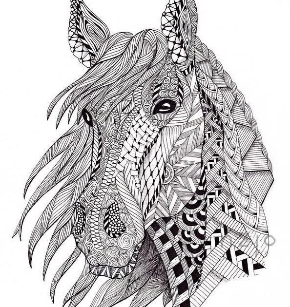 erwachsene tier pferde ausmalbilder