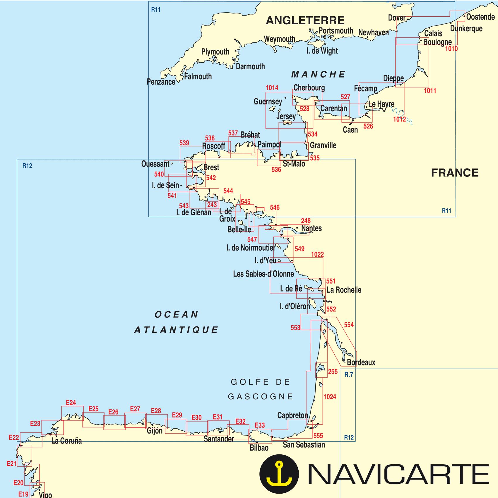 Carte Cote Atlantique France Espagne.Carte Cote Atlantique Carte