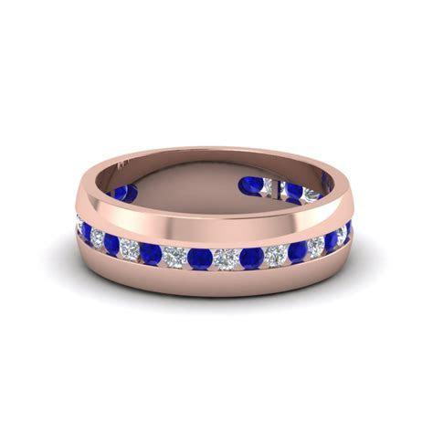 Princess Cut Diamond Vintage Wedding Band In 14K Rose Gold