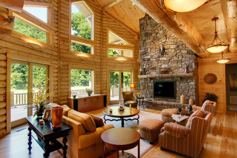 Log Home Interiors - High Peaks Log Homes