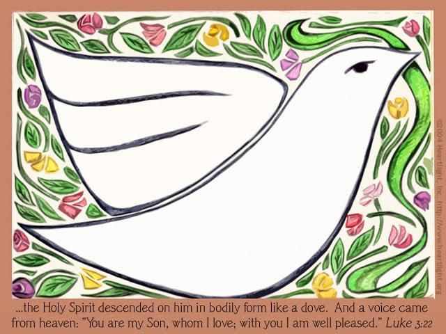 Inspirational illustration of Luke 3:22