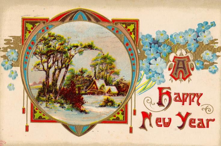 A Happy New Year-vintage postcard  constancedenninger.blogspot.com  Vintage Grace